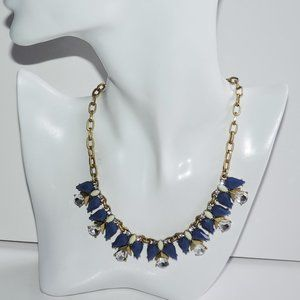 J. CREW Necklace Blue Glass Crystals